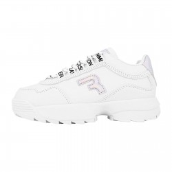 REPLAY KIDS GIRLS SNEAKERS JS320001S CIUDAD WHITE/SILVER