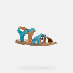 GEOX GIRLS SANDALS J02BSC 032BS C4015 TURQUOISE