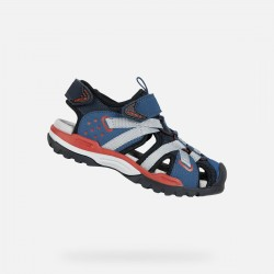 059355785b2 GEOX BOYS SANDALS J920RB 0CE14 C0735 NAVY/RED