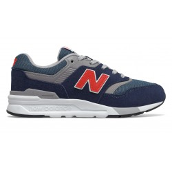 NEW BALANCE BOYS SNEAKERS GR997HAY Natural Indigo with Neo Flame